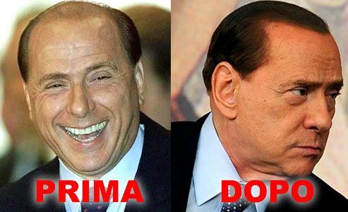 Berlusconi capelli prima e dopo