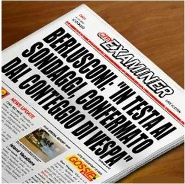 sondaggio imbarazzante Vespa Berlusconi testata giornale