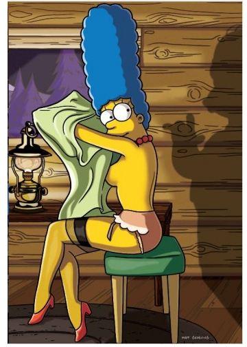 Marge Simpson Moglie Di Homer Posa Nuda Sulla Copertina Playboy