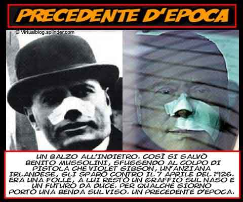 Berlusconi-Mussolini precedente d'epoca