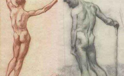 Inediti nudi maschili disegnati da Adolf Hitler