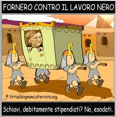 Elsa Fornero, contro il lavoro nero (vignetta)