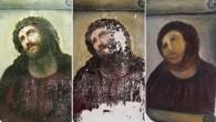 """Tre fotografie separate di """"Ecce Homo"""" del pittore Elias Garcia Martinez, mostrano estesi danni provocati da un restauro improvvisato, portato a termine da un'anziana donna di ottant'anni. La donna senza nome, invece di chiamare un professionista, in un periodo di austerità, ha tentato di restaurare il murale ad un costo […]"""