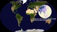 Ancora più allucinante, detto cerchio è per lo più formato da acqua. La semplice ma illuminante osservazione sulla distribuzione globale della popolazione è di valeriepieris, un utente di Reddit. valeriepieris, ha aggiunto: «In questo cerchio (vedi immagine),pur essendo perla maggior parte formato dall'acqua,vive più della metà della popolazione mondiale,comprende laMongolia, […]