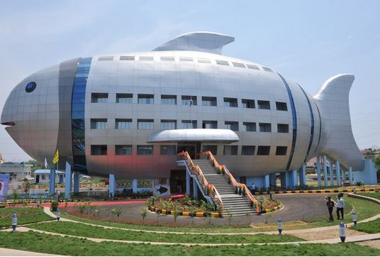 Edificio a forma di pesce - National Fisheries Development Board, India