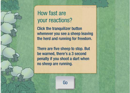 Test pecora tempi di reazione