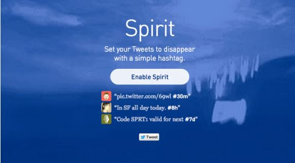 Spirit cancella i tweet a tempo