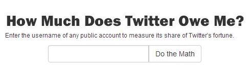 Il tuo valore quotato su Twitter