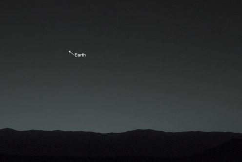 Terra fotografata dal Curiosity Rover su Marte