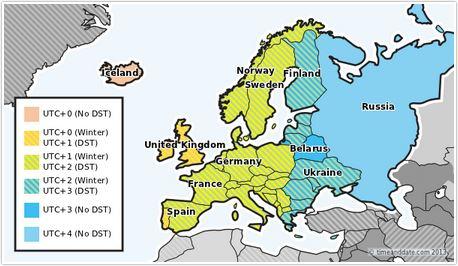 Fusi Orari Ora legale in Europa