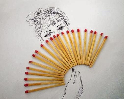 Victor Nunes donna con ventaglio - clicca l'immagine per vedere altre foto