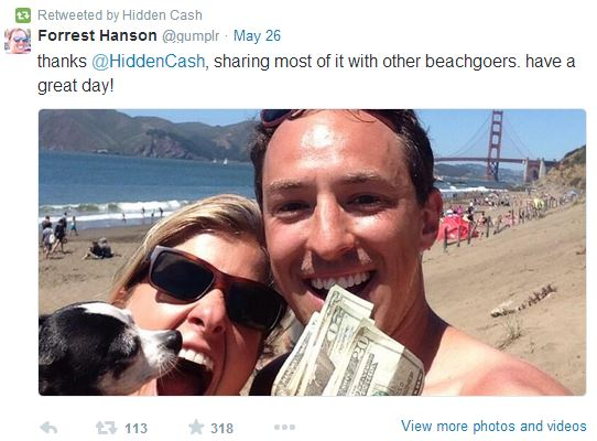Forrest Hanson caccia al tesoro su twitter