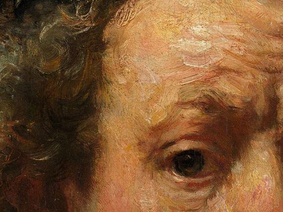 Rembrandt particolare autoritratto