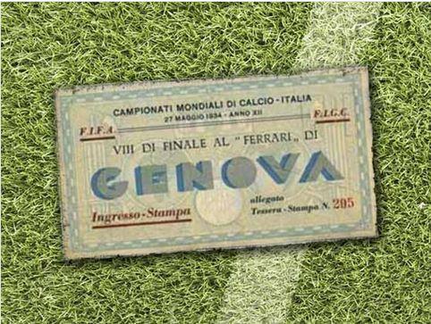 Biglietto della Coppa del Mondo di Calcio in rassegna dal 1930 al 2010 (foto)
