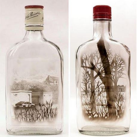 Fumo in bottiglia disegni di Jim Dingilian