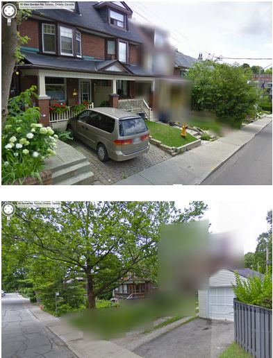 Immagini offuscate da Street View
