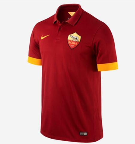 Maglietta della Roma esaurita negozio Nike