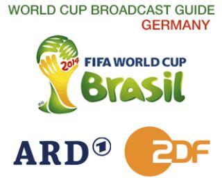 Mondiali di Calcio Brasile, Canali TV tedeschi ARD1 2DF