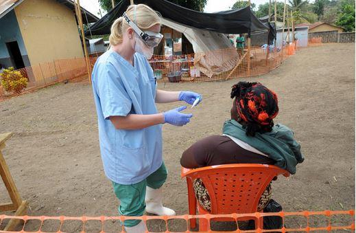 Ebola epidemia contagio respiro