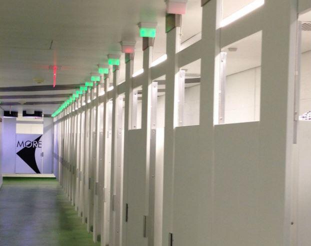 tooshlights luce verde, luce rossa per indicare disponibilità bagni pubblici