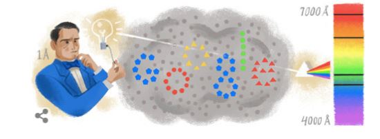 Anders Jonas Ångström doodle google