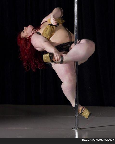 LuAyne Brown la più pesante ballerina di pole dance