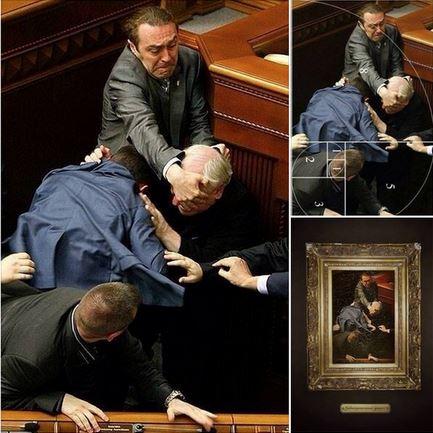 Rissa Parlamento ucraino immagine come un quadro di Caravaggio