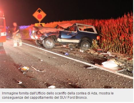 Incidente SUV Ford Bronco