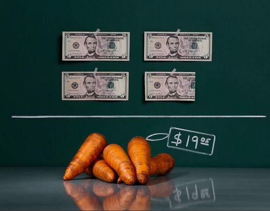 Inflazione Venezuela - 5 carote 19.05 dollari