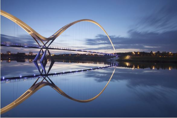 1) Infinity Bridge, Stockton-on-Tees, Regno Unito