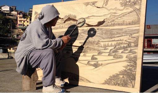 Jordan Mang-Osan disegna con i raggi del sole