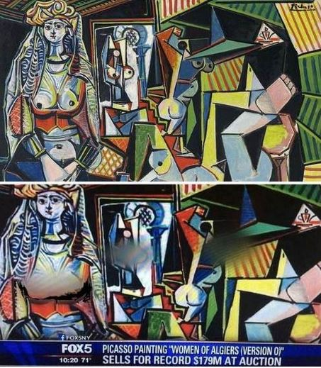 Fox censura Donne di Algeri di Picasso