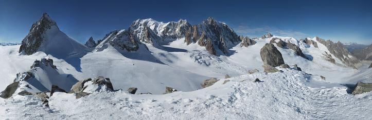Monte Bianco foto panorama più grande del mondo