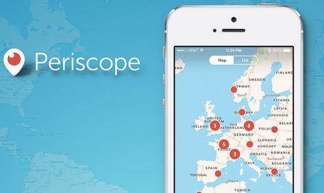 Periscope funzione mappa