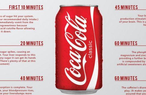 Coca-Cola 1 ora dopo aver bevuto una lattina