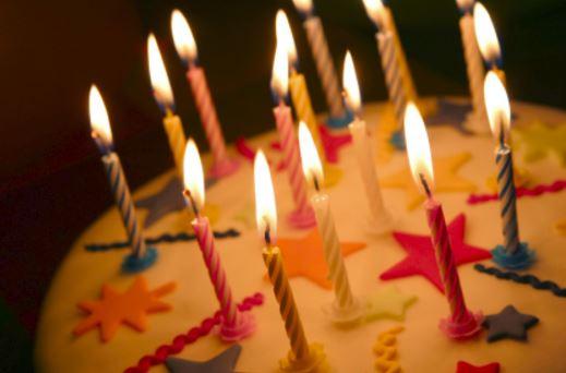 Candeline torta di compleanno