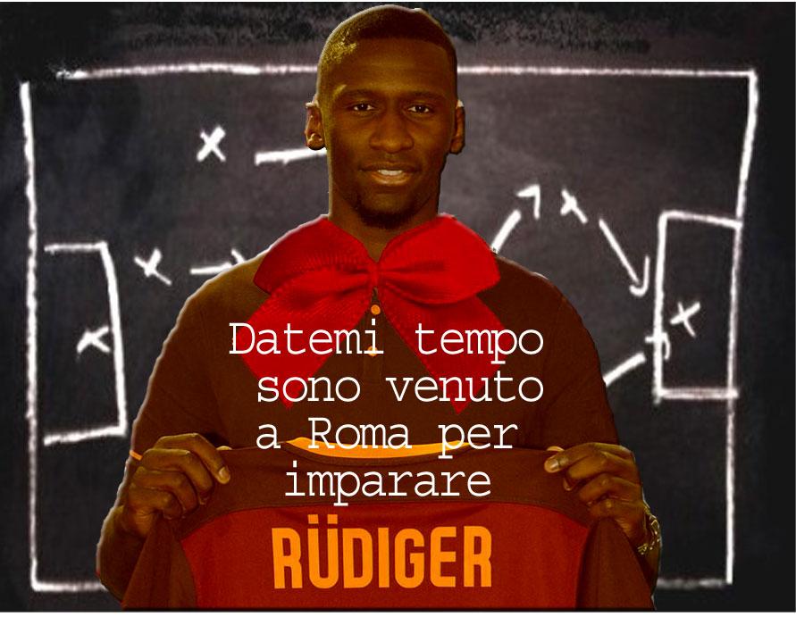Rüdiger a Roma per imparare