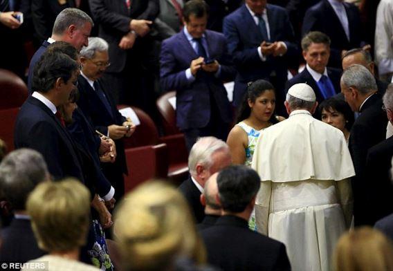 Karla Jacinto ricevuta dal Papa
