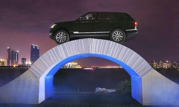 Land Rover ponte di carta in Cina