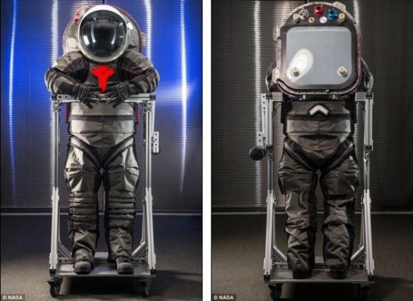 Z-2 nuovo prototipo tuta spaziale per Marte - fronte retro