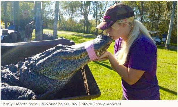 Christy Kroboth cacciatrice di coccodrillo