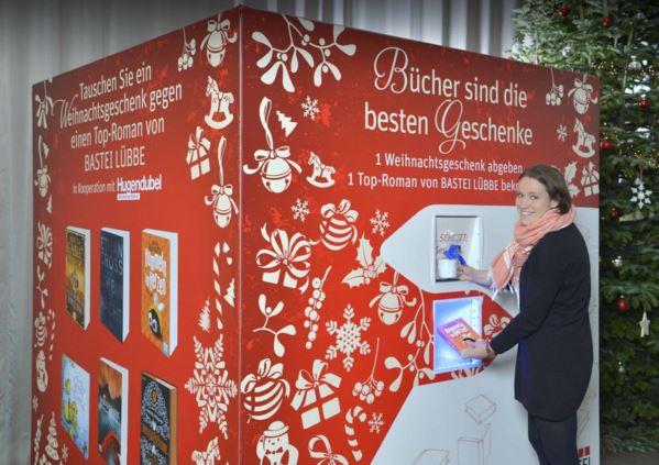 Distributore automatico di libri in cambio di regali indesiderati