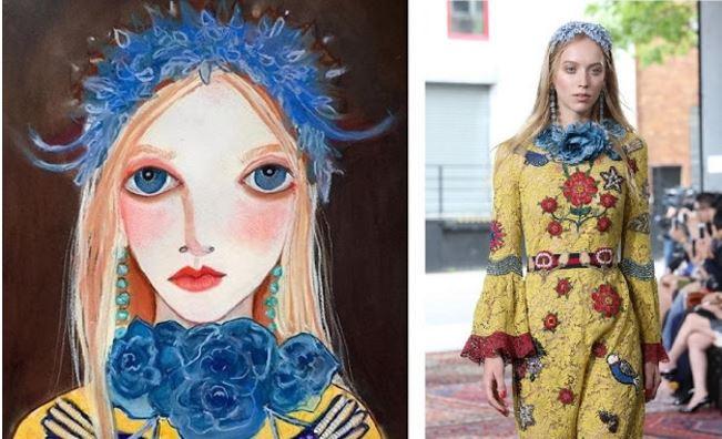 Helen Downie disegni modelle Gucci