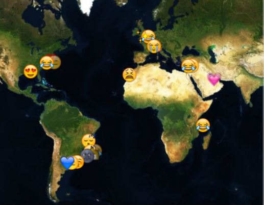 Real-Time Emoji Map