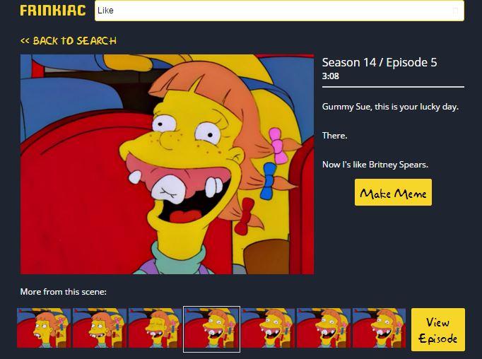 Frinkiac motore di ricerca citazioni di Simpson