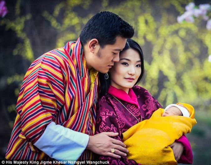 Re del Bhutan Khesar Namgyel Wangchuck e la regina Jetsun Pema