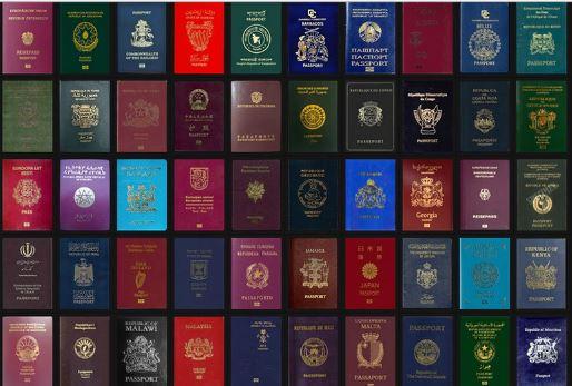 Passaporti colore