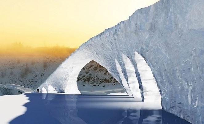 Ponte di ghiaccio Leonardo da Vinci