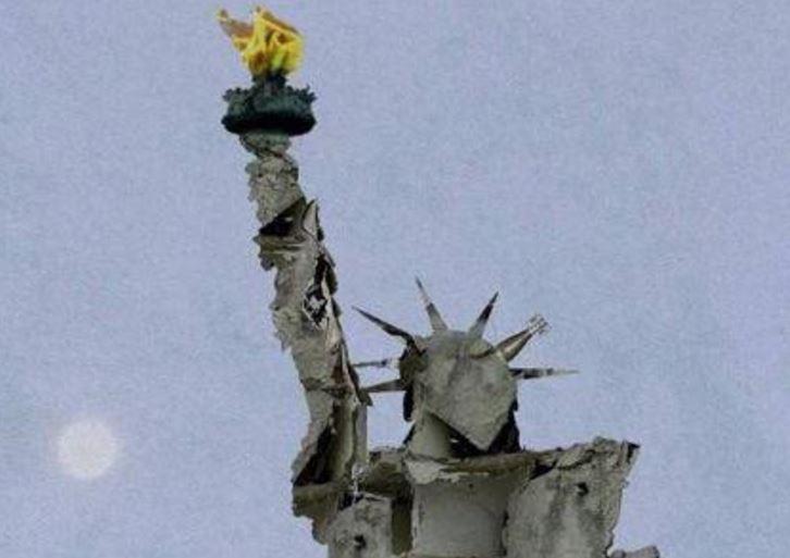 Statua libertà Siria