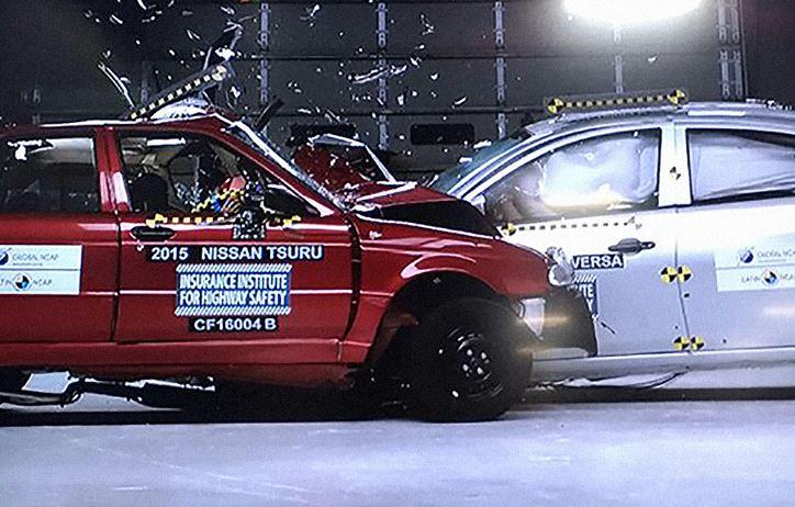 Nissan Tsuru crash test Zero Stelle